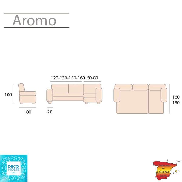 sofa-cama-chaise-longue-aromo-medidas-de-tiendadecohome-en-sevilla