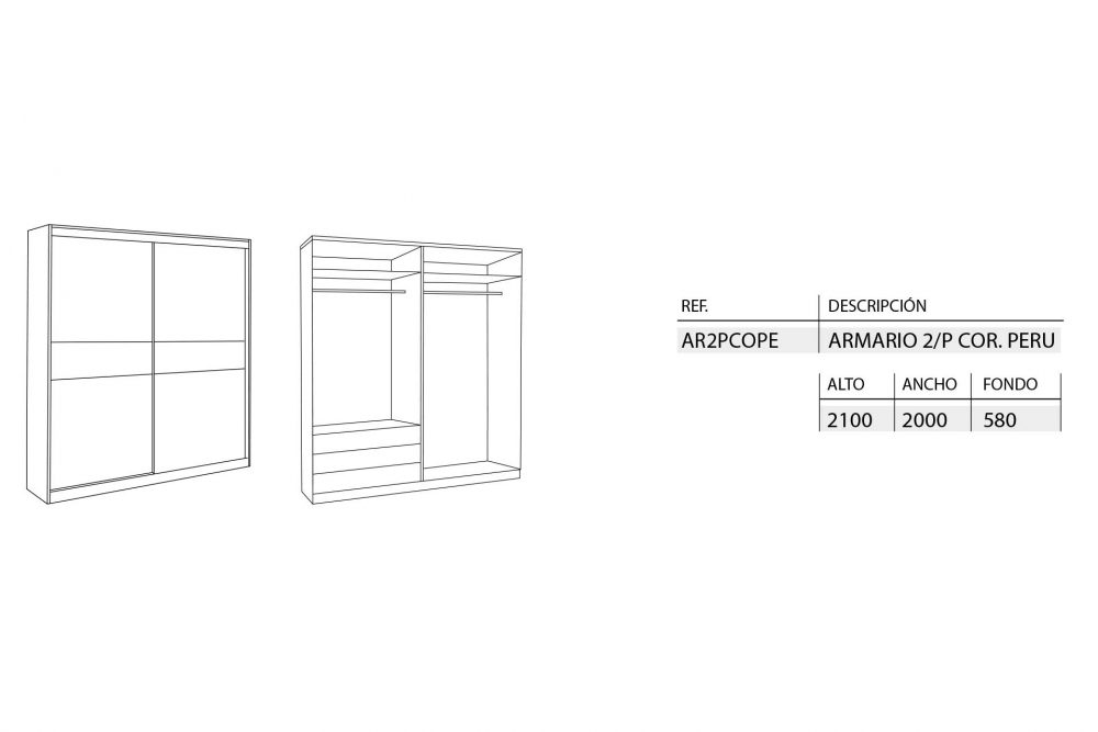 medidas-armarios-correderas-peru-2-puertas