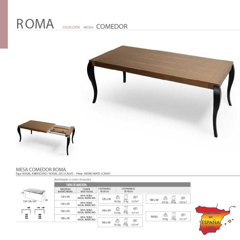 mesa-de-comedor-extensible-roma-en-zaragoza