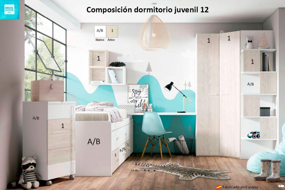 composicion-conjunto-dormitorio-juvenil-12-serie-bronce-de-tiendadecohome