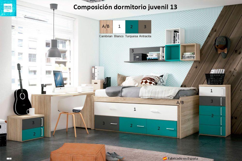 composicion-conjunto-dormitorio-juvenil-13-serie-bronce-de-tiendadecohome