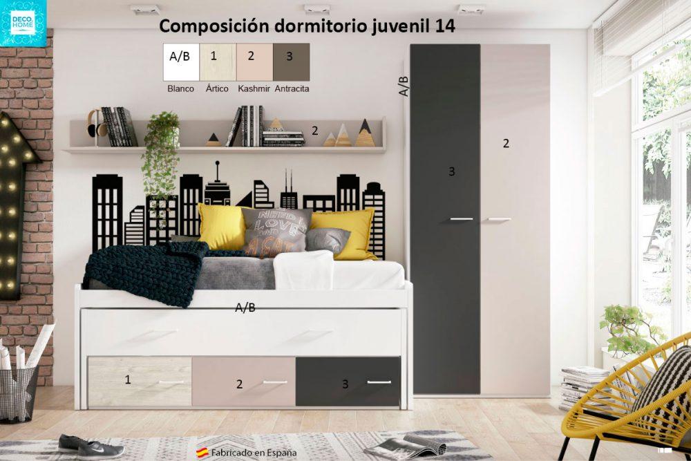 composicion-conjunto-dormitorio-juvenil-14-serie-bronce-de-tiendadecohome