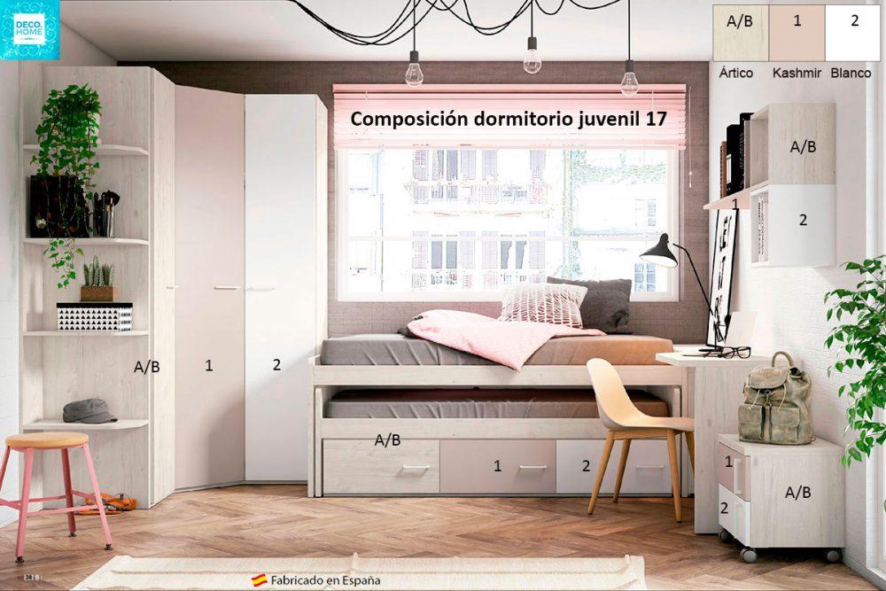 composicion-conjunto-dormitorio-juvenil-17-serie-bronce-de-tiendadecohome