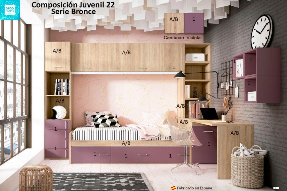 composicion-conjunto-dormitorio-juvenil-22-serie-bronce-de-tiendadecohome
