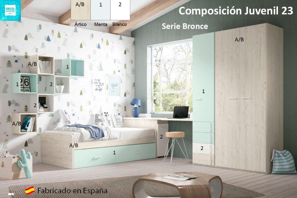 composicion-conjunto-dormitorio-juvenil-23-serie-bronce-de-tiendadecohome