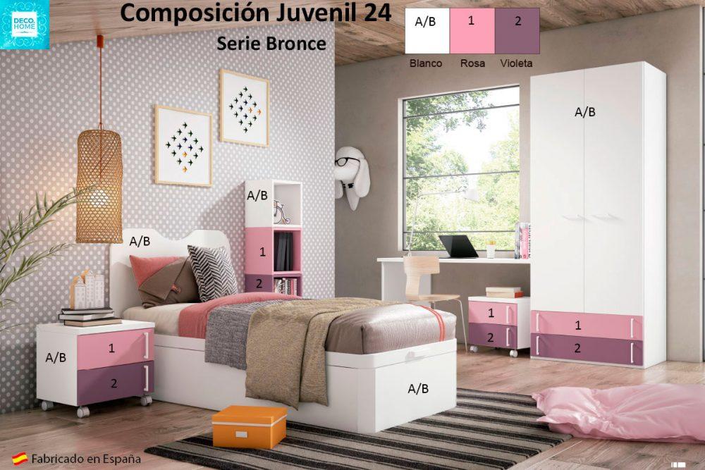 composicion-conjunto-dormitorio-juvenil-24-serie-bronce-de-tiendadecohome