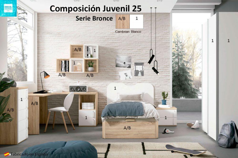 composicion-conjunto-dormitorio-juvenil-25-serie-bronce-de-tiendadecohome