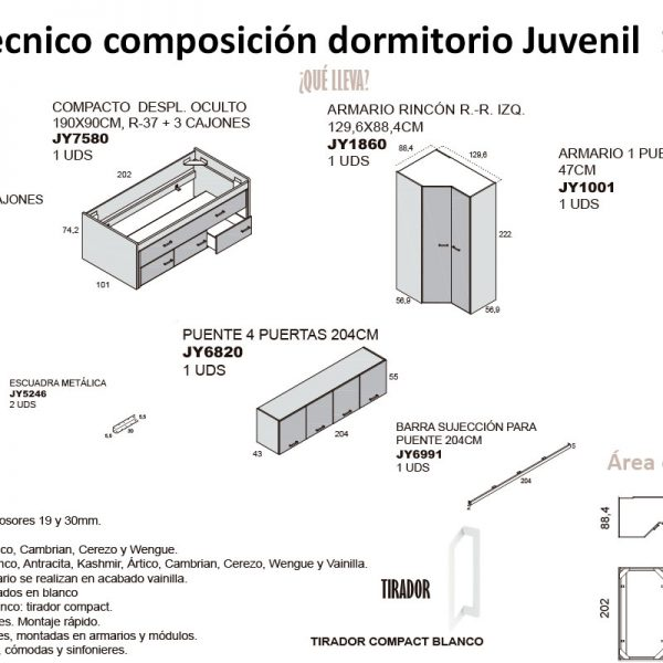 tecnico-composicion-conjunto-habitacion-juvenil-15-serie-bronce-de-tiendadecohome