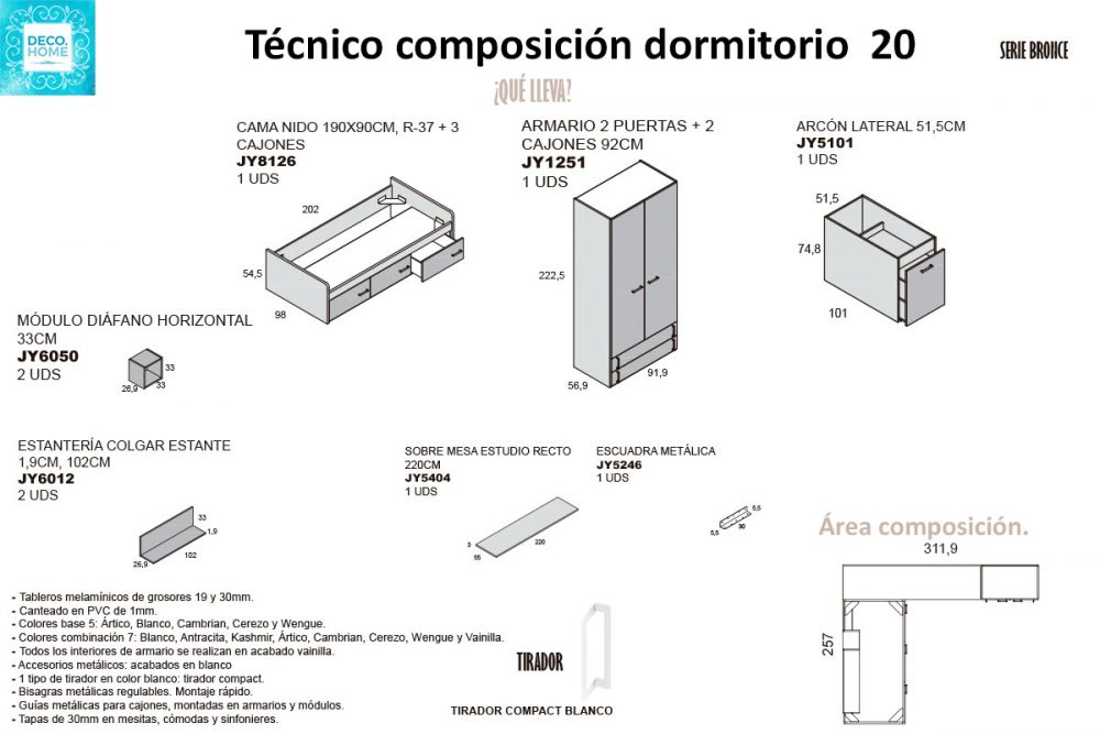 tecnico-composicion-conjunto-habitacion-juvenil-20-serie-bronce-de-tiendadecohome